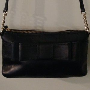 KATE SPADE BLACK SOFT LEATHER CROSSBODY WITH BOW